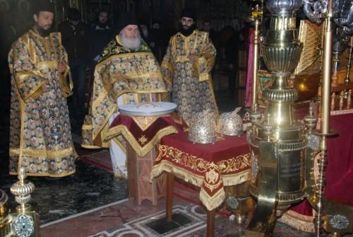 Reliquias de San Atanasio en el monasterio Vatopedi del Monte Athos (Grecia).