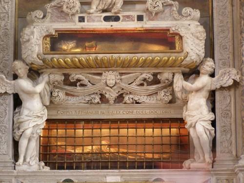 Reliquias de San Atanasio, patriarca de Alejandría, y de San Zacarías, padre del Bautista, en Venecia (Italia).