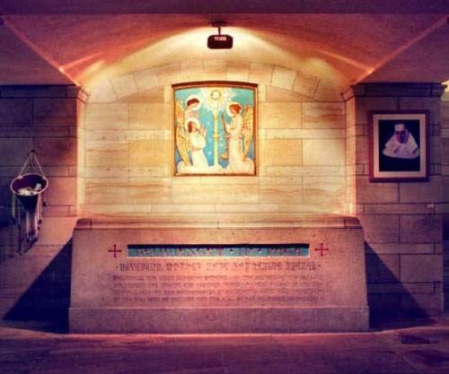 Vista del sepulcro de la Santa.