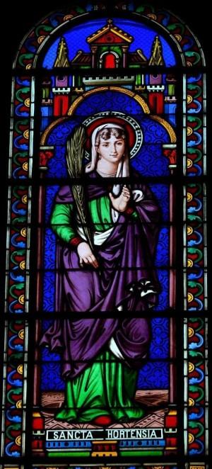 Vidriera de Santa Hortensia, mártir. Iglesia de San Luis de Vichy (Francia). Fotografía: Nhûan DôDuc.
