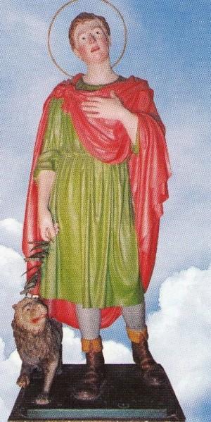 Estatua del Santo venerado en Lizzano, Belvedere (Italia).