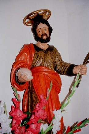 Imagen del Santo venerada en Strozza (Italia).