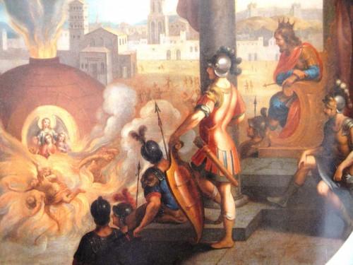 Martirio de las Santas. Anónimo del siglo XVIII. Museo Nacional del Virreinato. Tepotzotlán, México. Fotografía: Montserrat Báez.