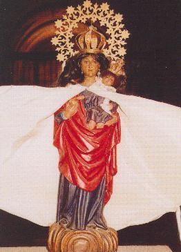 Vista de la imagen venerada en Traiguera (España).