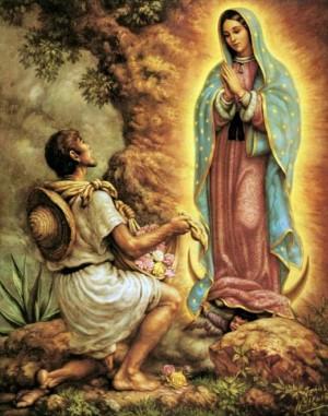 Aparición de la Virgen de Guadalupe a San Juan Diego.