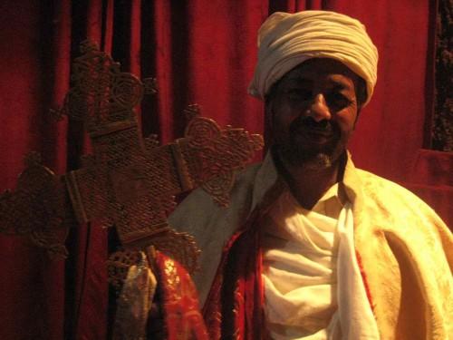 Fotografía de un sacerdote etíope.
