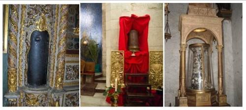 Las tres columnas de la flagelación: Constantinopla, Jerusalén y Roma.