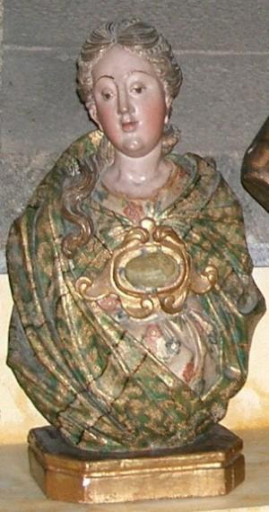 Busto-relicario de la Santa. Catedral de Braga, Portugal.
