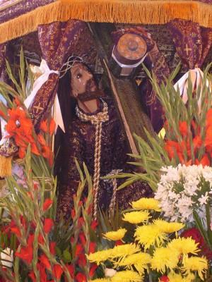 Réplica de la imagen aparecida del Señor de Tepalcingo. Fotografía de Alejandro Pérez.