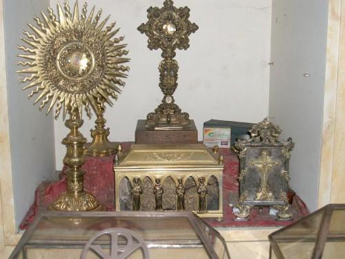 Otros relicarios presentes en la catedral de Braga (Portugal).