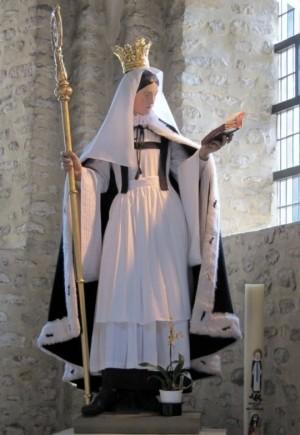Imagen de la Santa en su colegiata de Nivelles, Bélgica. Fotografía: Lala.
