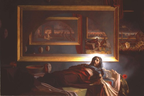 """""""Alegoría de la Resurrección de Cristo"""", lienzo de Patrick Devonas."""