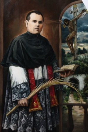 Pintura del Beato Francisco de Paula López Navarrete, sacerdote mártir.
