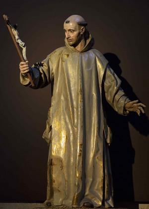 Escultura del Santo, obra de Manuel Pereira (s. XVII). Cartuja de Miraflores, Burgos (España).