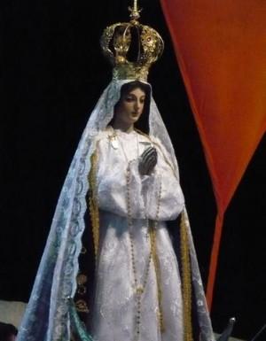 """Imagen de Nuestra Señora de Tetiz, conocida como """"la peregrina de Loreto""""."""