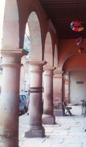 Vista de la columna donde estuvo atado el Santo durante sus horas de tormento.