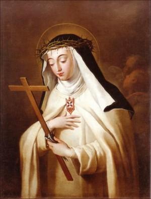 Lienzo de la Beata, obra del pintor valenciano José Camarón Boronat.