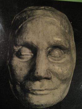 Vista de la mascarilla de cera que se extrajo del rostro de la Beata tras su muerte.