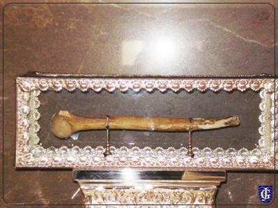 Relicario del Santo en su santuario de Jerez de la Frontera, España.