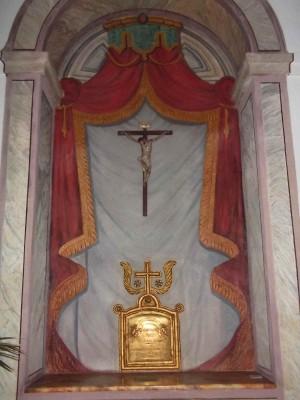 Vista del sepulcro actual de la Sierva de Dios.