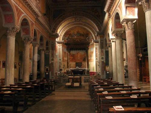 Vista del interior del templo. Roma, Italia.