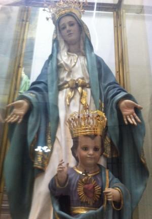 Detalle de la imagen que se veneraba en la iglesia de la Merced, Guadalajara (México), actualmente arrinconada.