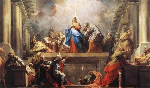 Pentecostés, óleo de Jean Restout (1792). Museo Nacional del Louvre, París (Francia).