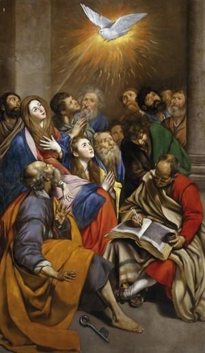 """""""Pentecostés"""", lienzo del pintor español fray  Juan Bautista Maíno (1581-1649). Museo Nacional del Prado, Madrid (España)."""