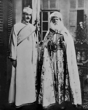 Foto del Santo con el Papa San Cirilo V.