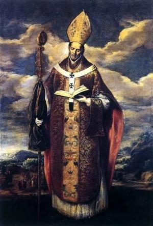 """San Eugenio de Toledo, óleo del pintor manierista Domenikos Theotokopoulos  """"El Greco""""."""