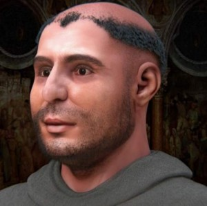 Reconstrucción del rostro de San Antonio.