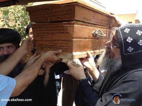 Traslado de sus reliquias después de la canonización. Mah Macha, El Cairo (Egipto).