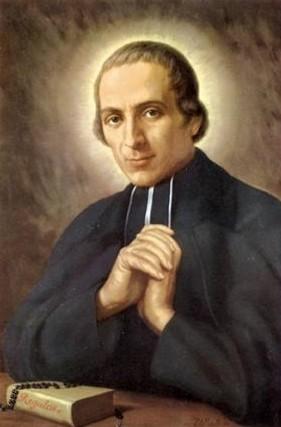 Lienzo de la beatificación del Santo.
