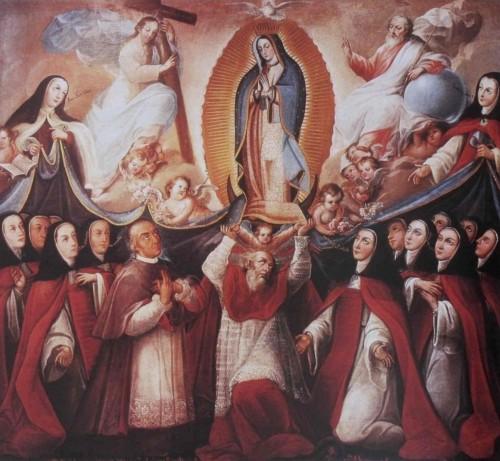 Patrocinio de Nuestra Señora de Guadalupe y sobre la Orden de San Jerónimo y  el Convento de Jerónimas de Puebla, José Joaquín Magón, Museo Regional INAH, Cdad. de Puebla, México.
