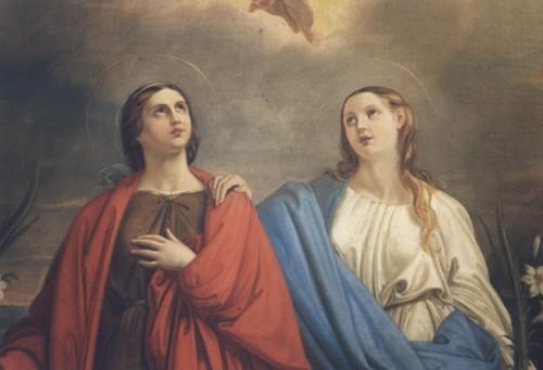 Detalle de una pintura de las Santas (s.XVII). Monasterio de Santa Rufina, Roma (Italia).