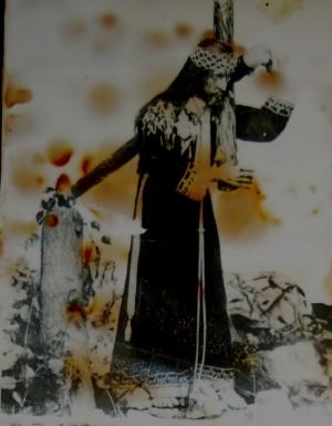 Antigua Imagen de Nuestro Padre Jesús de las Tres Caídas, Parroquia de Sn. Pedro Cholula, Puebla (México).