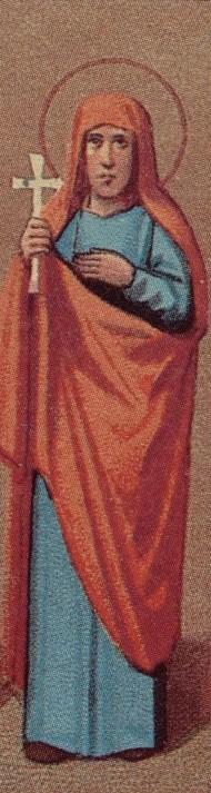 Detalle de la Santa en un santoral para el Prólogo de Ochrid.