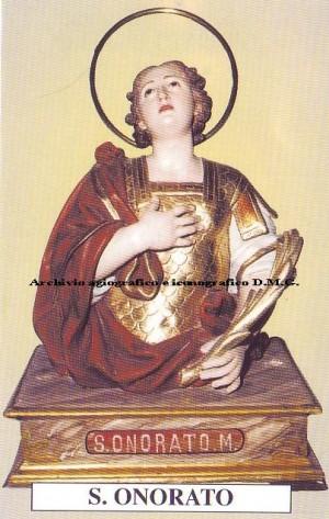 Busto relicario de San Honorato, mártir de las catacumbas venerado en Molise, Italia.