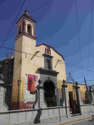 Templo de San Pedrito, San Pedro Cholula, Puebla (México).