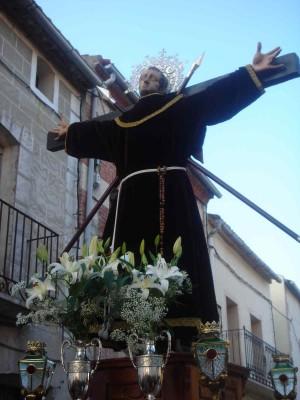 Imagen del santo en su localidad natal.