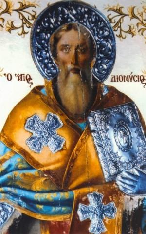 Detalle de un icono ortodoxo griego del Santo.