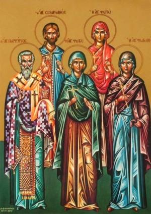 Sinaxis del 26 de febrero: Santos Porfirio de Gaza, y los mártires Foto, Fotina, Fótide y Sebastián.