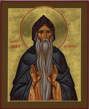 Icono ortodoxo griego del Santo.