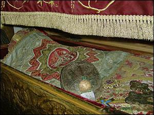 Cráneo de la Santa. Monasterio Zdrebaonik, Danilovgrad (Montenegro).
