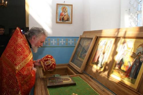 Urna con las reliquias del Santo.