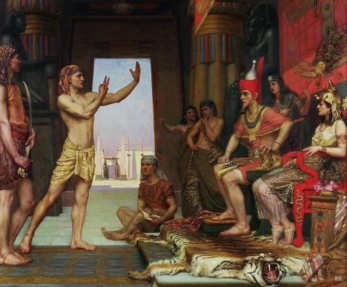 José interpreta los sueños del faraón. Lienzo de Arthur Reginald, 1894.