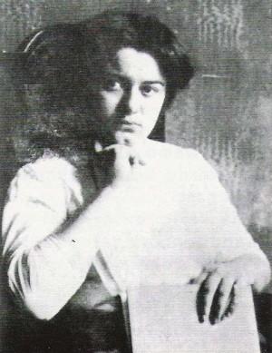 Edith Stein, estudiante, fotografiada durante el curso 1913-1914.