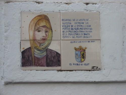 Cerámica conmemorativa en Gilet, Valencia (España).