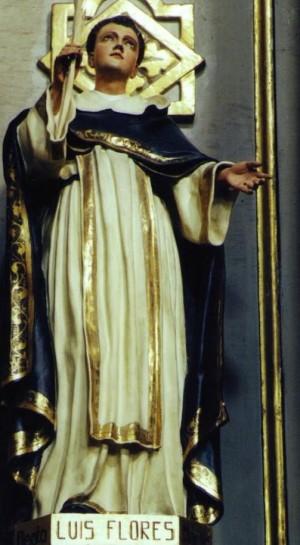Escultura del Beato Luis Flores.