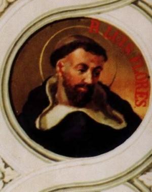 Luneta con la imagen del Beato Luis Flores.